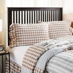 Portabella Buffalo Checked Ruffle Pillow Case Set of 2