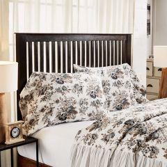 Portabella Floral Ruffled Pillow Case Set of 2