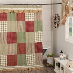 Prairie Farmhouse Patchwork Shower Curtain