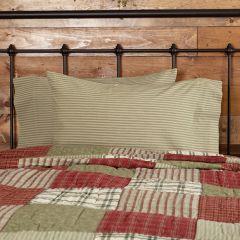 Prairie Farmhouse Ticking Stripe Pillow Case Set of 2