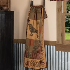 Primitive Farmhouse Crow and Star Quilted Throw