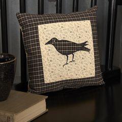 Primitive Farmhouse Crow Throw Pillow 10 Inch