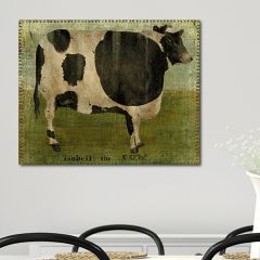 Primitive Inspired Cow Wall Art