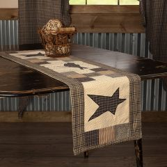 Primitive Patchwork Crow And Star Table Runner 13x48