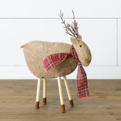 Primitive Peg Leg Reindeer Set of 2