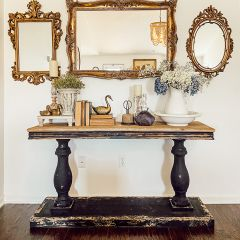Primitive Wood Console Table