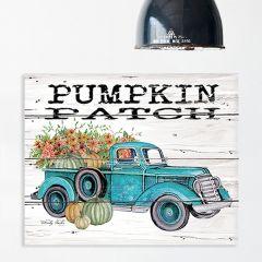 Pumpkin Patch Truck Wood Pallet Wall Art