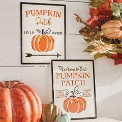 Pumpkin Patch Wall Signs, Set of 2