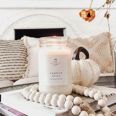 Pumpkin Spice Mason Jar Candle