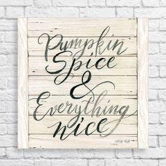 Pumpkin Spice Wrapped Canvas Wall Art
