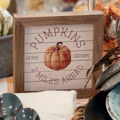 Pumpkins 2 Miles Ahead Whitewash Wall Art