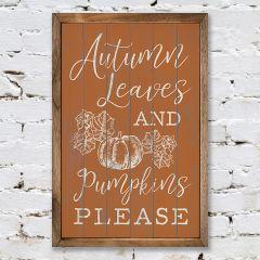 Pumpkins Please Wall Sign