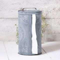 Punched Tin Farmhouse Paper Towel Holder
