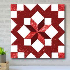 Quilt Pattern Wall Art, Carpenters Star