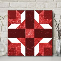 Quilt Pattern Wall Art, Cross and Crown
