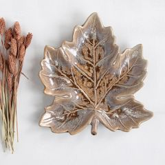 Reactive Glaze Leaf Dish Bundle