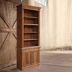 Reclaimed Pine Bookshelf Cabinet