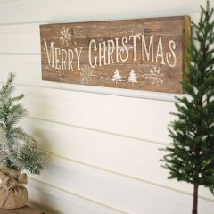 Reclaimed Wood Painted Merry Christmas Sign