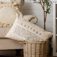 Rectangle Patches Cottage Throw Pillow
