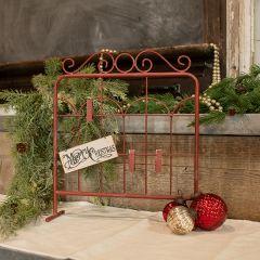 Red-Hued Metal Tabletop Gate, 14 Inch