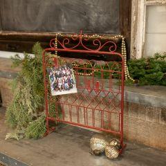 Red-Hued Metal Tabletop Gate 18 Inch