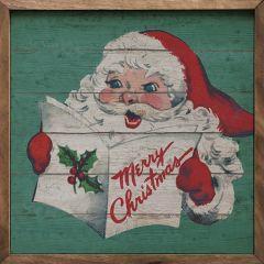 Retro Santa Merry Christmas Wall Decor