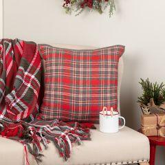 Reversible Holiday Tartan Plaid Throw Pillow