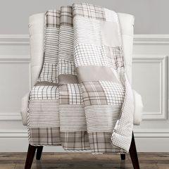 Reversible Plaid Throw Blanket