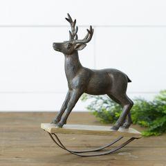 Rocking Deer Statue
