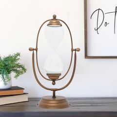 Rotating Hourglass Decor