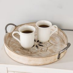 Round Tray With Center Design, Set of 2