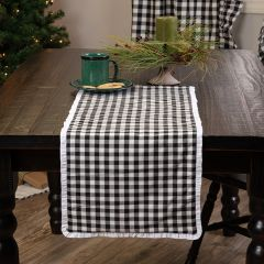 Ruffled Country Check Table Runner 13x36