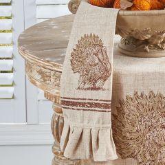 Ruffled Linen Turkey Towel