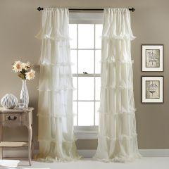 Ruffled Romance Curtain Panel