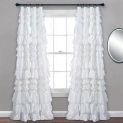 Ruffled Waterfall Curtain Panel