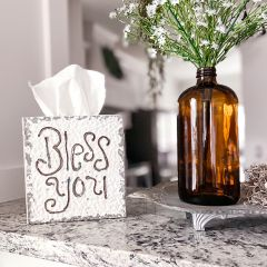 Rustic Bless You Tissue Box Cover
