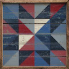 Rustic Blues Quilt Wall Art