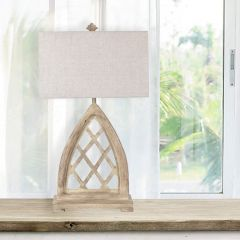 Rustic Cathedral Arch Table Lamp