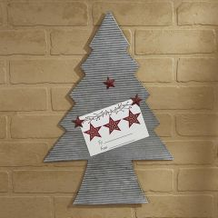 Rustic Christmas Tree Memo Board With Magnets