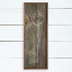 Rustic Circle Key Framed Wall Art