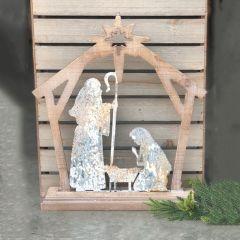 Rustic Creche Tabletop Nativity Scene