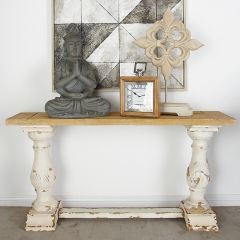 Rustic Elegance Console Table