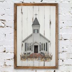 Rustic Farmhouse Church Print