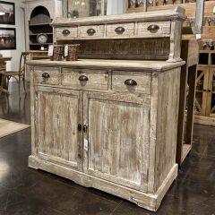 Rustic Farmhouse Cupboard Counter Table