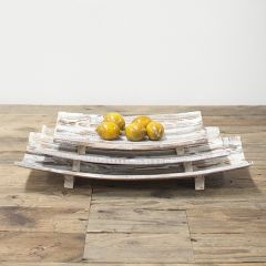 Rustic Farmhouse Footed Curved Display Risers Set of 3