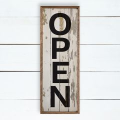 Rustic Farmhouse Framed Open Sign