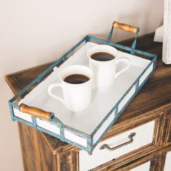 Rustic Farmhouse Handled Serving Trays Set of 2