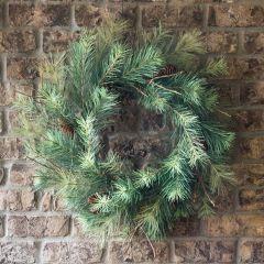 Rustic Faux Pine Wreath