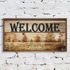 Rustic Framed Welcome Sign
