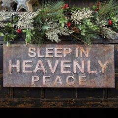 Rustic Heavenly Peace Hanging Holiday Sign